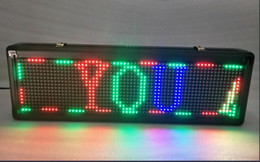 Wholesale Full Color Led Display - 55*100cm RGB full color outdoor p10 dip led display board advertising board for business and store with full color border
