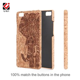 Wholesale Huawei Phone Housing - Slim Wood Phone Case for HUAWEI P8 Lite P9 Lite Real Cork 5.2 Inch Flower Carve Protector Back Cover Factory Capa Housing