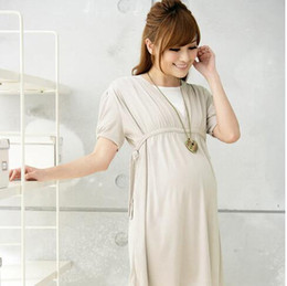 Wholesale Pregnancy Natural - Fashion Maternity Clothes Modal maternity dresses Nursing Dress pregnant dress pregnancy clothes for Pregnant Women