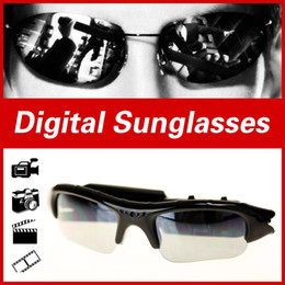 Wholesale Sport Cameras For Sale - Wholesale-Arrival Hot Sale Digital glasses Audio Video Camera DV DVR Sunglasses cam Sport Camcorder Recorder For Driving Outdoor