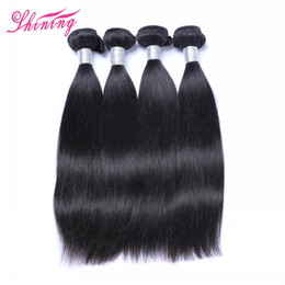 Wholesale Clearance Malaysian Hair - Clearance Sale 8A Peruvian Virgin Hair 4 Bundles Human Hair Extensions Weave Malaysian Indian Cambodian Brazilian Straight Hair