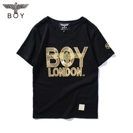 Wholesale Boys Designer Shirts - 2017 New Fashion United States tide brand BOY Robin jean mens t shirts men's short sleeve designer clothing BOY T shirts for men
