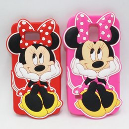 Wholesale Galaxy S4 Polka Dots - Cute 3D Polka Dot Minnie Mouse Cartoon Silicone Phone Cases For Samsung Galaxy S3 S4 S5 S6 S6Edge S7 Edge Note 2 3 4 5 7 Note3 Note4 Note5