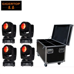 Wholesale Motor Works - 4in1 Flightcase Pack 60W Led Beam Moving Head Light Mini Small Size Silent Working Motor 75W Power Consumption O-R-S-AM 4IN1 LED