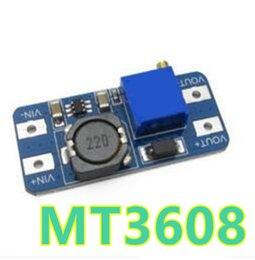 Wholesale Step Up Power - 5pcs lot MT3608 DC-DC Power Supply Adjustable Boost Module 2A Boost Plate 2A Step Up Module 2v-28v