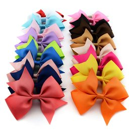 Wholesale Wholesale Baby Hairclips - 565 High Quality Baby Ribbon Bows with Clip Grosgrain Flower Hairclips Children Girls Hair Bows Hair Accessories 20pcs lot Wholesale