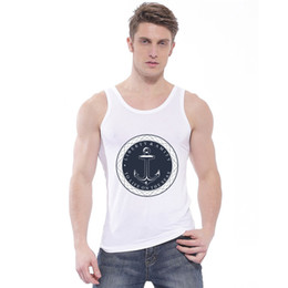 Wholesale French Champagne Brands - Wholesale- 2017 NEW Summer Europe French high-end brands Homme Vest tops Harajuku Tights Clothing Men Casual O-neck vest Sleeveless