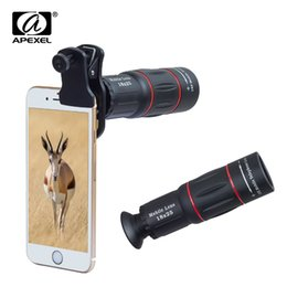 Lente de telescopio con zoom de 18x online-APEXEL Telefon Camera Universal 18X Telescope Zoom Telescopio Teléfono móvil para iPhone Xiaomi Smartphones APL-18XT lente