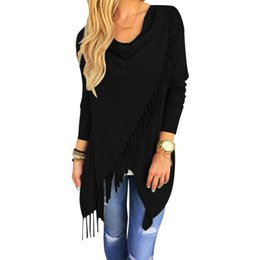 Wholesale Womens Long Tunic Tops - Wholesale- Korean fashion Womens Loose Asymmetric hem Tunic Basic Tops Tee