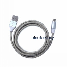 Wholesale Cell Phone Charger Wire - 1M 3FT Micro USB Cable Aluminium Metal Nylon Braided Wire USB Charger Sync Data Cable For Samsung S7 S6 edge LG HTC Cell phone Universal