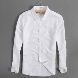 Wholesale linen mens clothing - Wholesale- Morden brand shirt men cotton fashion men shirts linen summer white shirt mens casual clothing man shirts camisa masculina S-4XL