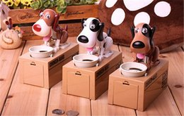 Wholesale Money Eating Piggy Bank - Hot CHOKEN-BAKO Cute My Dog Model Piggy BANK Eat Eatten Bank Money Save Pot Saving Coin Box I Love Mony