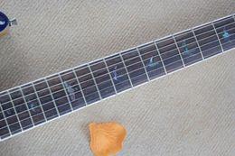 Wholesale Tiger Veneer - Free shipping Wholesale - new blue tiger veneer to jazz electric guitar