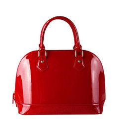 Wholesale European Hand Bags - 2017 New women's patent leathe handbags famous brands shellbags ladies hand bags luxury handbags women bags designer