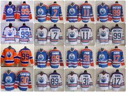 Wholesale Bills Throwback Jersey - Throwback Edmonton Oilers Hockey Jersey 30 Bill Ranford 89 Sam Gagner Paul Coffey 17 Jari Kurri Grant Fuhr Wayne Gretzky Mark Messier Jersey
