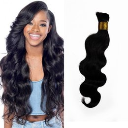 Malaysian body wave bulk hair natural color human hair bundles no weft can be dyed FDSHINE Coupon
