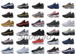 Wholesale Free Light Solar - Air 95 Ultra 20th Anniversary Neon Solar Red Volt Sports Shoes Retro Sports Running Shoes For Men 95s Trainer Tennis Sneakers Free Shipping