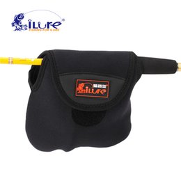 Wholesale Abu Bags - Wholesale- iLure New nylon quality neoprene roller   case for spinning fishing rollers fishing bag abu garcia bag for fishing free shipping