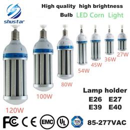 E27 bulbo led 36w on-line-DIODO EMISSOR de luz Lâmpada De Milho 27 W 36 W 45 W 54 W 80 W 100 W 120 W E26 E27 E39 E40 Jardim Armazém iluminação de estacionamento AC 85-265 V