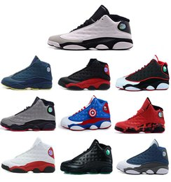 Wholesale Mens Basketball Shoes Best - New Mens womens Basketball Shoes Air Retro 13 Bred Black True Red Discount Sports Shoe Athletic Running shoes Best price Sneakers