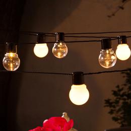 Wholesale Warm White Led Festoon Lights - Novelty 5M 20 LED G45 Globe Connectable Plug-in Festoon Party String Light Wedding Chirstmas Decor Patio Fairy Lights Garden Decoration