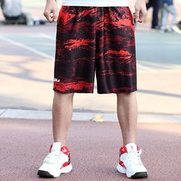Wholesale 4xl Tall - Classic Midweight Men's Basketball Loose Sports Shorts 100% Polyester Knee-length Tall Men Basketball Shorts Size L-5XL