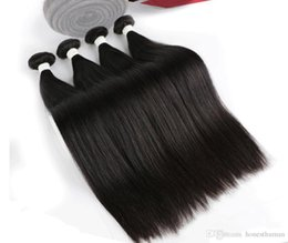 Wholesale Real Brazilian Hair Manufacturers - Brazilian Hair Weave Bundles Best 6A 50g pc 5pcs Real manufacturers selling straight hair natural color Hair shade