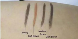 Wholesale Eyebrow Pencils - HOT MAKEUP Eyebrow Enhancers Makeup Skinny Brow Pencil gold DOuble ended with eyebrow brush 0.2g 5 Color +GIFT dhl free shipping AA