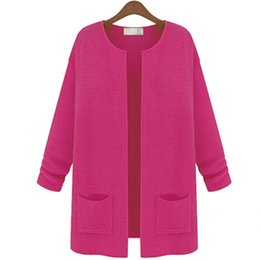 Wholesale Yellow Cardigan Sweater Women - Wholesale-COCKCON Autumn Winter 2016 Women Solid Knitwear Long Sleeve Wool Cardigan Sweater Coat Jacket