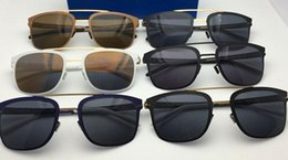 Wholesale Sunglasses Ultralight - New style mykita hunter ultralight frame without screws pilot frame flap men women Germany Brand Vacation Sunbathing Sunglasses with origbox