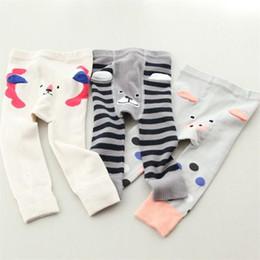 Wholesale Pp Pants Legging Cartoons - Cute Cartoon stripe baby PP pants Infant Leggings boys girls Leggings Tights kids Leg Warmers Toddler Leggings Wear Newborn Clothing A925