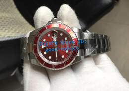 Wholesale Red Dial Watches Men - Top Style Mens Mechanical Date Vintage Watch Men Red Steel Rotating Bezel Coca Cola Coke Dial Retro Watches Sport Dive AAA Wristwatches