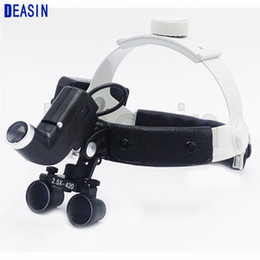 Wholesale Dentist Surgical Loupes - 2.5 X high intensity Black surgical Loupes for dentist doctors surgical operation ENT Asin