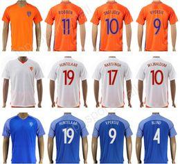 Wholesale Soccer 12 - 2017 2018 Netherlands Soccer Jersey Holland National Team Personalized 12 VAN BASTEN 10 WIJNALDUM 17 LENS 19 HUNTELAAR Dutch Football Shirt