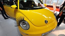 Wholesale Eye Lashes For Cars - Creative 3D Car Stickers Car Eyelashes Fake Eye Lash Sticker Car Headlight Decoration Self Adhesive Funny Decal for Beetle