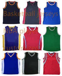 Wholesale Premier Men - A+++ basketball stitched game jersey custom players mens embroidered premier jersey classic throwback jersey rev 30 team