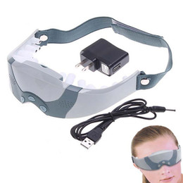 Wholesale Eye Forehead Massager - Electric Wireless Eye Massager Eye Vision Wrinkle Care Massager Vibrator Mask Migraine Forehead Massage Relaxation OOA2135