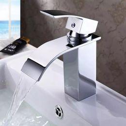 Wholesale China Taps - BAKALA Waterfall Sink Faucet Chrome Single Handle Single Hole Mixer Bathroom Taps Widespread Basin Faucets,Origin:Guandong, China