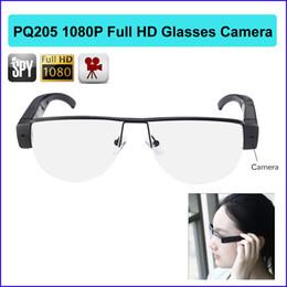 Wholesale Camera Sunglasses Sports - new sport glasses camera 1080P Full HD sport sunglasses cycling mini DVR Camcorder camera large eyeglass DV fashion Cam PQ205
