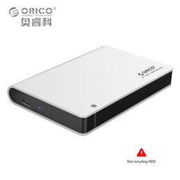 Wholesale Orico Hard Drive Enclosure - Wholesale- ORICO 2598C3-SV Aluminium 2.5 SATA3.0 USB3.0 HDD Enclosure Type-c Hard Disk Box Support 9.5mm&12.5mm Hard Drive