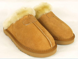 Wholesale Ankle Muscle - High quality Warm cotton slippers Men And Womens slippers Short Boots Women's boots Snow boots Designer Indoor cotton slippers Leather boot