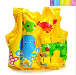 Wholesale Inflatable Car Pool Float - Top quality brand Child Swimming Vest Boy Girl Inflatable Life Vest for Fishing Baby Floating Vest Swim Ring Inflatable Swan cartoon style
