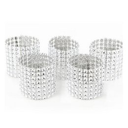 Wholesale Wedding Wrap Chair - European Style Plastic Rhinestone Wrap Napkin Ring Serviette Buckle Holder Hotel Wedding Supplies Party Chair Decoration ZA3197