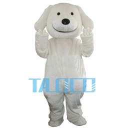 Wholesale White Dog Costume For Adults - HOT sale White dog bear Mascot Costume Adult Size Fancy Dress Party for festival Free Ship