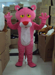 Wholesale Drop Mascot Costume - 2017 brand new Adult Size Pink Panther Mascot Costume Cartoon Character Clothing Fancy Dress Party Clothes Suit Drop Shipping