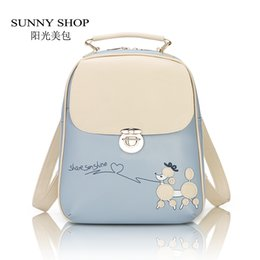 Wholesale Bicycles Vintage Style - Wholesale- SUNNY SHOP Vintage Fresh Students Backpack Female Korean Backpack School Bicycle Cute Kawaii PU leather Backpack For girls