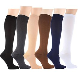 Wholesale Hot Nylon Leg - Hot Selling Miracle Socks 6 Colors Anti Fatigue Compression Magic Leg Warmers Slimming Socks Sport Basketball Socks