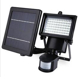 Wholesale Power Sl - SL-60 LED Super Bright Waterproof Solar Powered PIR Motion Detector Door Wall Lamp for Garden