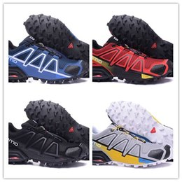 Wholesale Speed Laces - hot sale 2017 man and women Zapatillas Speedcross 4 ATHLETIC Shoes new Walking Speed cross shoes size 40-46 free shpping