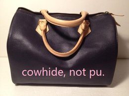 Wholesale Drawstring Bucket Bag Handbag - Top quality oxidize cowhide 2016 Fashion Women classic Boston Handbags shoulder bag speedy 30 cm Wristlet 41526 tote makeup bags #29